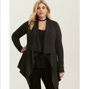 NWT: Torrid long sleeve gray knit open cardigan